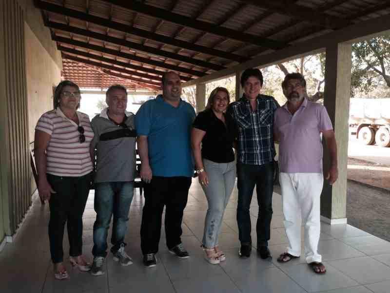 Robinson e os ex-prefeitos Vanira e Gijá