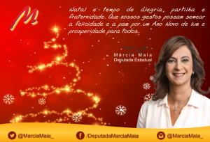Cartão Natalino Márcia Maia