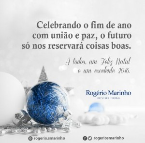 Cartão de Natal Rogério Marinho