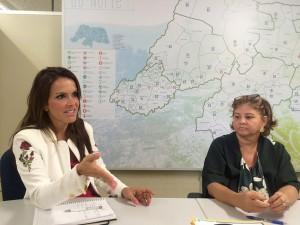 Secretária Julliane Faria e Ana Guedes (Gerente de executiva do Projeto RN Sustentável)